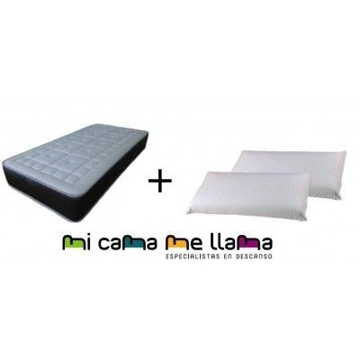 COLCHON VISCOGEL + ALMOHADAS VISCO